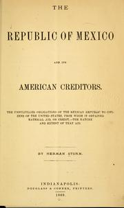 Cover of: The Republic of Mexico and its American creditors