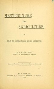 Cover of: Menticulture and agriculture
