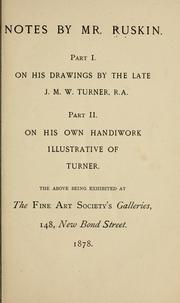 Cover of: Notes by Mr. Ruskin