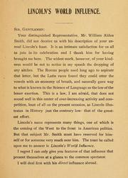 Cover of: Remarks of the Brazilian ambassador, Mr. Joaquim Nabuco, at the fourteenth annual banquet of the Lincoln Republican club and of the Young men's Republican club of Grand Rapids, on February 12th, 1906