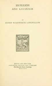 Cover of: Hyperion and Kavanagh