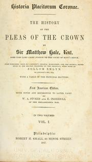 Cover of: Historia placitorum coronae
