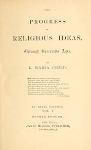 Cover of: The progress of religious ideas: through successive ages