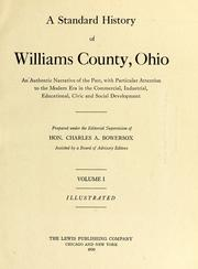 Cover of: A standard history of Williams County, Ohio