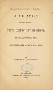 Cover of: Desirableness of active service