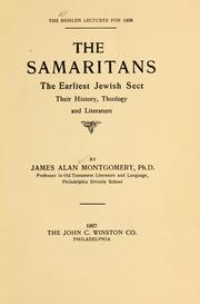 Cover of: The Samaritans, the earliest Jewish sect