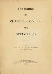 Cover of: The battles of Chancellorsville and Gettysburg
