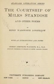 Cover of: The courtship of Miles Standish