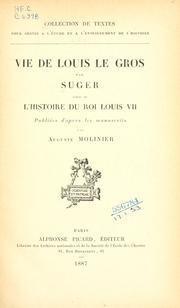 Cover of: Vie de Louis le Gros