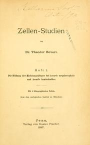 Cover of: Zellen-Studien
