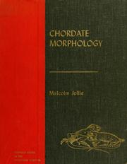 Cover of: Chordate morphology