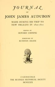 Cover of: Journal of John James Audubon
