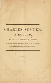 Cover of: Charles Sumner