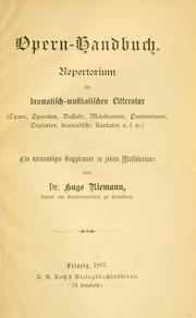 Cover of: Opern-handbuch