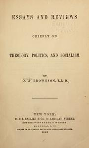 Cover of: Essays and reviews: chiefly on theology, politics, and socialism