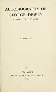 Cover of: Autobiography of George Dewey