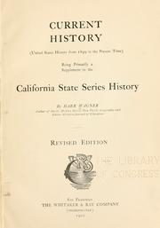 Cover of: Current history (United States history form 1899 [!] to the present time)