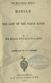 Cover of: Harold: the last of the Saxon kings