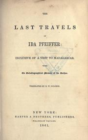 Cover of: The last travels of Ida Pfeiffer