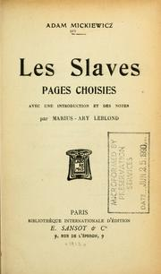 Cover of: Les Slaves