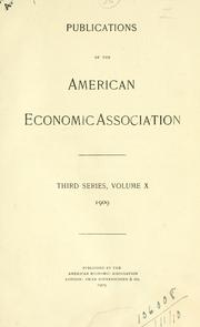 Cover of: Publications.