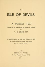 Cover of: The Isle of Devils: a historical tale, founded on an anecdote in the annals of Portugal