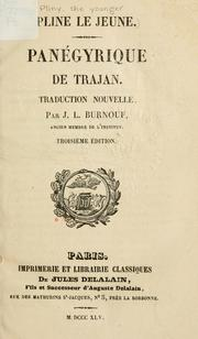Cover of: Panégyrique de Trajan