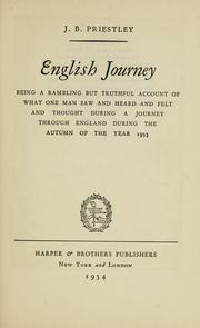 Cover of: English journey