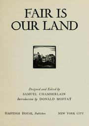 Cover of: Fair is our land