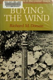 Cover of: Buying the wind