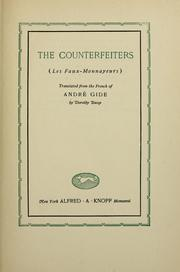 Cover of: Faux-monnayeurs: with Journal of The counterfeiters.