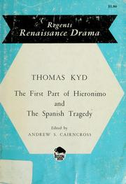 Cover of: <The Spanish comedy; or> The first part of Hieronimo