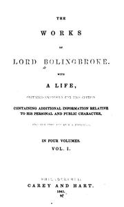 Dissertation upon parties by henry st john lord bolingbroke