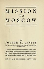 Cover of: Mission to Moscow
