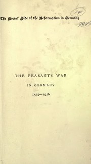 Cover of: The Peasants War in Germany 1525-1526