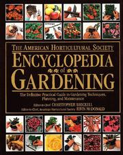 Cover of: The American Horticultural Society encyclopedia of gardening