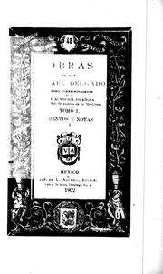 Cover of: Obras de Don Rafael Delgado