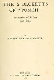 "Cover of: The à Becketts of ""Punch"""