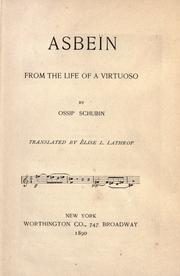 Cover of: Asbeïn from the life of a virtuoso