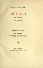 Cover of: Béatrix and The purse = La bourse