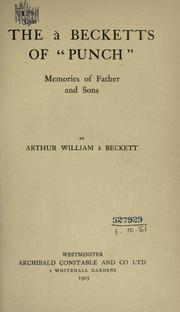 "Cover of: The à Becketts of ""Punch"": memoires of father and sons"