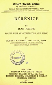Cover of: Bérénice: tragédie