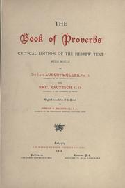 Cover of: The book of Proverbs