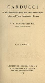 Cover of: Carducci