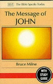 Cover of: The message of John