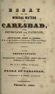 Cover of: Essay on the mineral waters of Carlsbad for physicians and patients