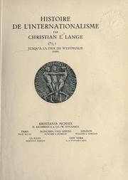 Cover of: Histoire de l'internationalisme