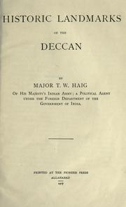 Cover of: Historic landmarks of the Deccan