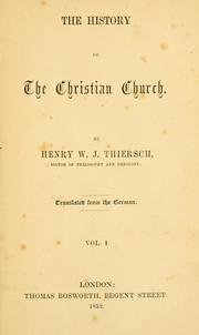 Cover of: The history of the Christian Church