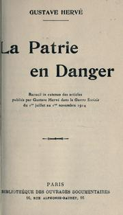 Cover of: La patrie en danger